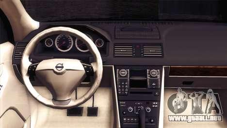 Volvo XC90 2009 para GTA San Andreas vista hacia atrás