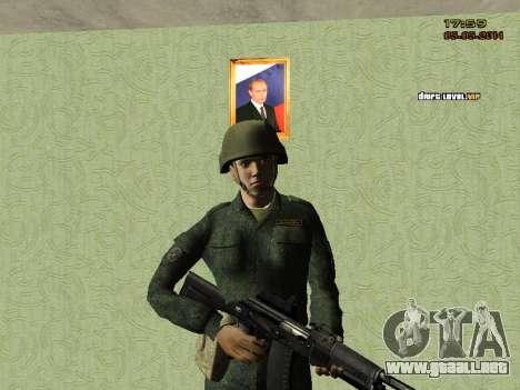 El ejército ruso moderno para GTA San Andreas quinta pantalla