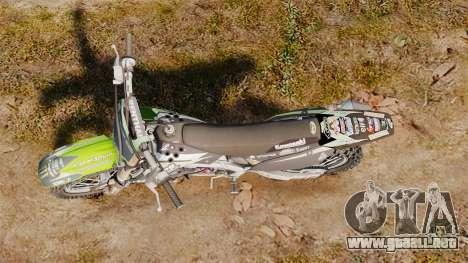 Kawasaki KX250F Monster Energy para GTA 4 visión correcta