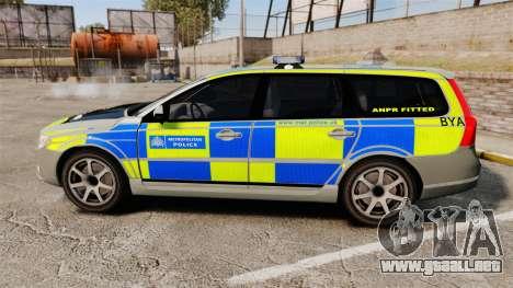 Volvo V70 ANPR Interceptor [ELS] para GTA 4 left