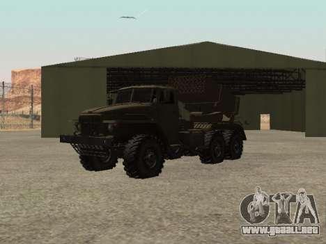 Ural 375 BM-21 para la visión correcta GTA San Andreas