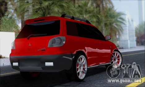 Mitsubishi Outlander Turbo 2005 para GTA San Andreas left