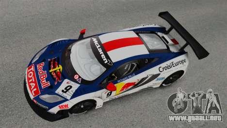 McLaren MP4-12C GT3 para GTA 4 visión correcta