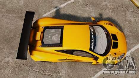 McLaren MP4-12C GT3 (Updated) para GTA 4 visión correcta