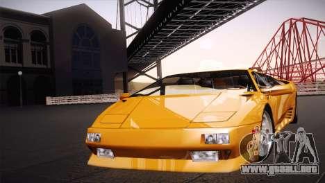 Lamborghini Diablo Stretch para GTA San Andreas vista posterior izquierda