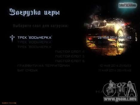 Menú de NFS para GTA San Andreas séptima pantalla