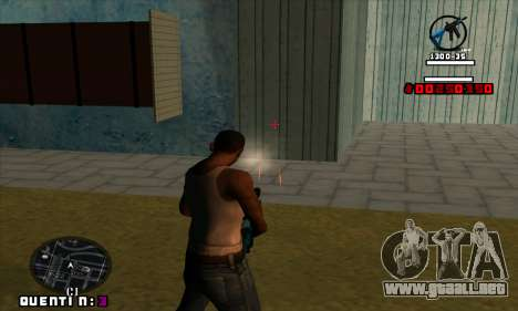 C-HUD Quentin para GTA San Andreas sucesivamente de pantalla