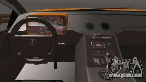 Lamborghini Diablo Stretch para GTA San Andreas vista hacia atrás