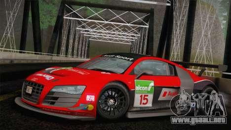 Audi R8 LMS Ultra Old Vinyls para visión interna GTA San Andreas