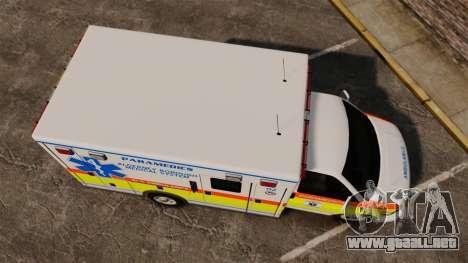 GMC Savana 2005 Ambulance [ELS] para GTA 4 visión correcta
