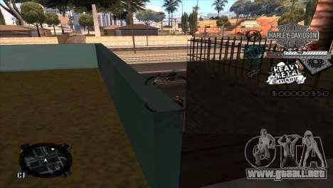 C-Hud Heavy Metal para GTA San Andreas tercera pantalla