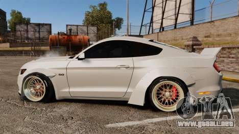 Ford Mustang 2015 Rocket Bunny TKF para GTA 4 left