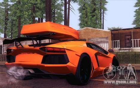 Lamborghini Aventador LP 700-4 para GTA San Andreas left