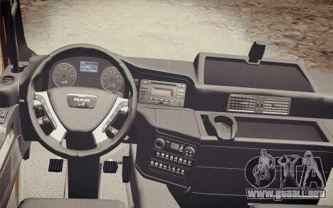 MAN TGS 18.320 Trash Truck para la visión correcta GTA San Andreas