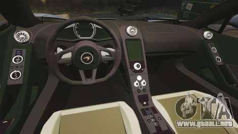 McLaren MP4-12C Spider 2013 para GTA 4 vista interior