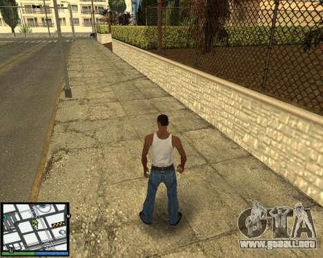 GTA V hud para GTA San Andreas tercera pantalla