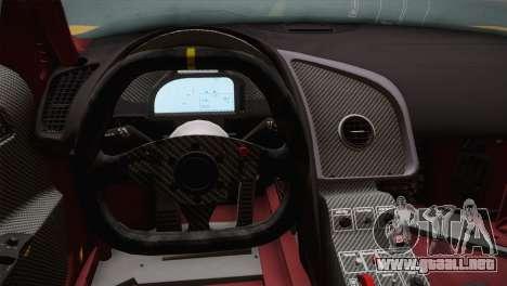 Audi R8 LMS Ultra Old Vinyls para GTA San Andreas vista hacia atrás