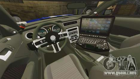 Ford Mustang GT 2015 Unmarked Police [ELS] para GTA 4 vista lateral