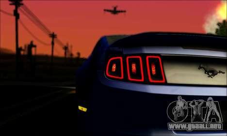 Ford Mustang GT 2013 v2 para visión interna GTA San Andreas