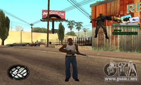 C-HUD Army Troops para GTA San Andreas segunda pantalla
