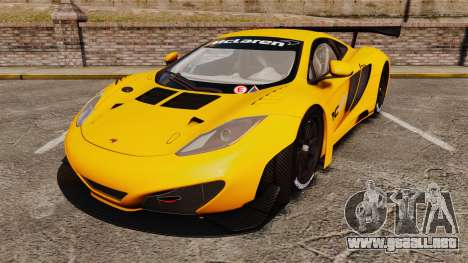 McLaren MP4-12C GT3 (Updated) para GTA 4