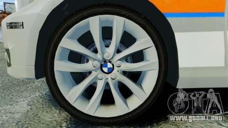 BMW 330i Touring Metropolitan Police [ELS] para GTA 4 vista hacia atrás