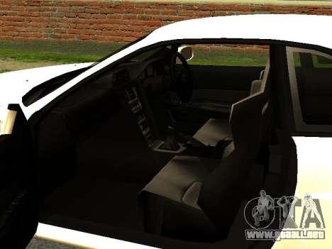 Nissan Skyline R34 GT-R para GTA San Andreas vista hacia atrás