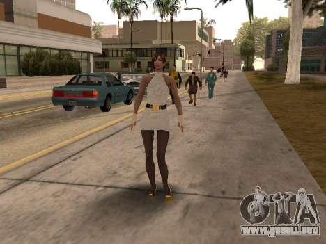Chica de vestido blanco para GTA San Andreas tercera pantalla
