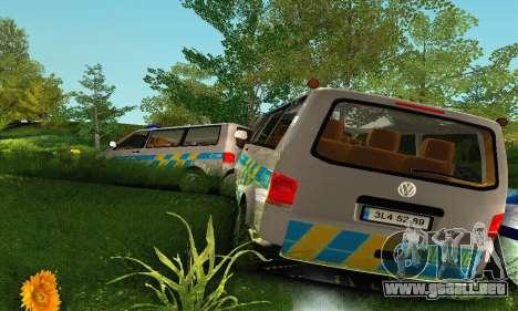 Volkswagen Transporter Policie para la vista superior GTA San Andreas