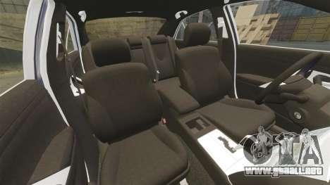 Toyota Camry para GTA 4 vista desde abajo