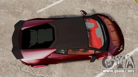 Lamborghini Huracan 2014 Oakley Tuning para GTA 4 visión correcta