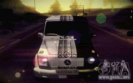 Mercedes-Benz G55 AMG para visión interna GTA San Andreas