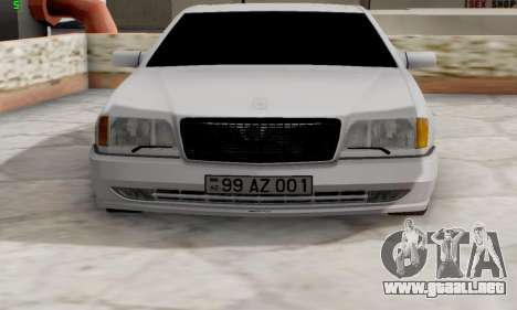 Mercedes-Benz 600SEL para GTA San Andreas vista posterior izquierda