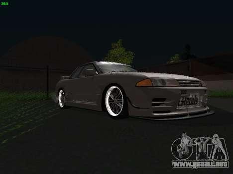Nissan Skyline BNR32 para GTA San Andreas vista posterior izquierda