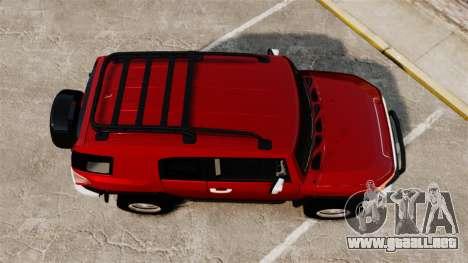 Toyota FJ Cruiser 2012 para GTA 4 visión correcta