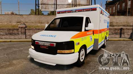 GMC Savana 2005 Ambulance [ELS] para GTA 4