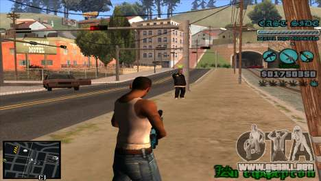 C-HUD Lane Gangsters para GTA San Andreas tercera pantalla