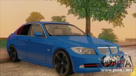 BMW 330i para vista lateral GTA San Andreas