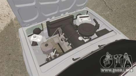 El USO de-Lada 2107 para GTA 4 vista hacia atrás
