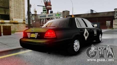 Ford Crown Victoria Cab para GTA 4 Vista posterior izquierda