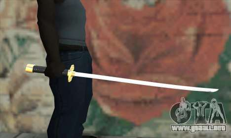 New Katana para GTA San Andreas tercera pantalla