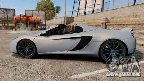 McLaren MP4-12C Spider 2013 para GTA 4 left