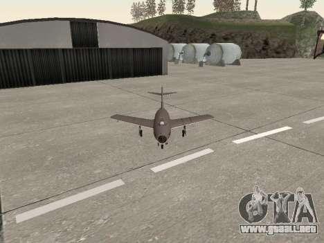 MiG 15 Bis para GTA San Andreas vista hacia atrás