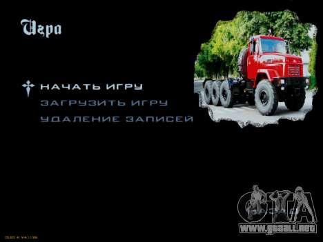Inicio pantallas Soviética Camiones para GTA San Andreas séptima pantalla