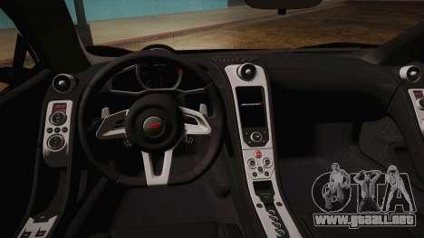 McLaren MP4-12C Police Car para la visión correcta GTA San Andreas