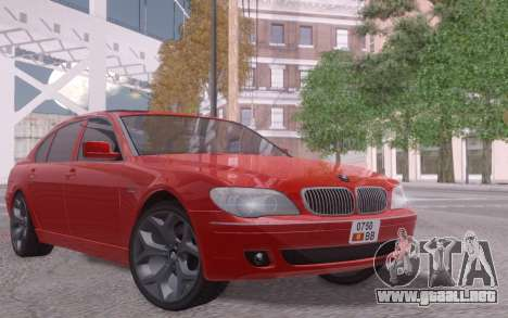 BMW 750Li E66 para GTA San Andreas left