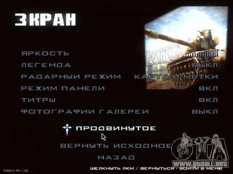 Menú de World of Tanks para GTA San Andreas quinta pantalla
