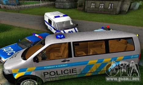 Volkswagen Transporter Policie para GTA San Andreas vista hacia atrás