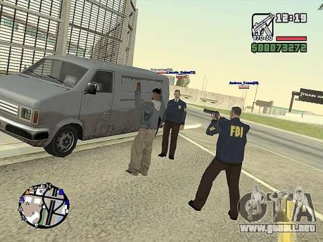 SA-MP 0.3z para GTA San Andreas novena de pantalla