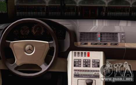 Mercedes-Benz S500 w140 para GTA San Andreas vista posterior izquierda